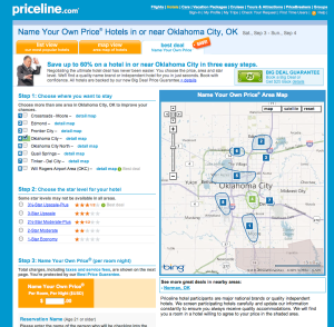 priceline screen