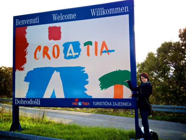 holly Croatia sign